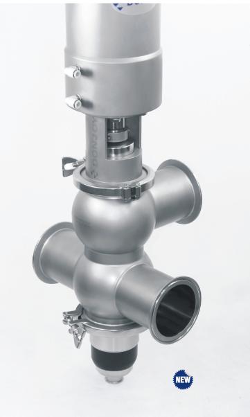 Double seat valves 2 จำหน่าย Double seat valves/Mixproof valve