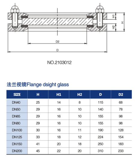 FLANGED SIGHT GLASS 2 จำหน่าย FLANGED SIGHT GLASS
