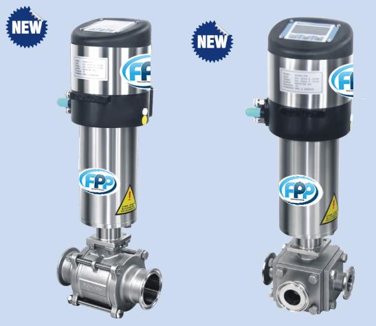Process controller + ball valve 1 จำหน่าย Process controller + ball valve